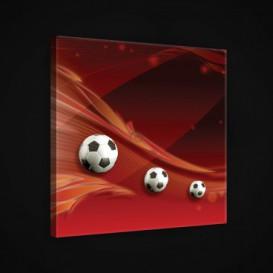 Obraz na plátne štvorec - OB1878 - Futbalová lopta