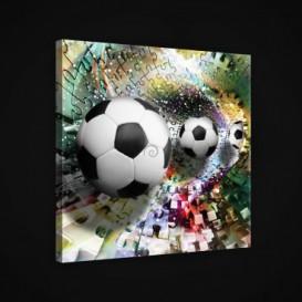 Obraz na plátne štvorec - OB1879 - Futbalová lopta