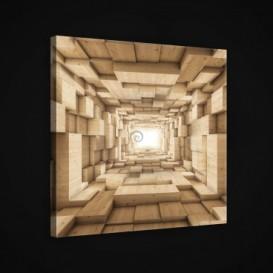 Obraz na plátne štvorec - OB1887 - 3D kocky