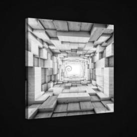 Obraz na plátne štvorec - OB1888 - 3D kocky