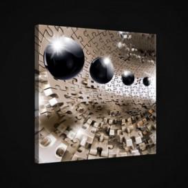 Obraz na plátne štvorec - OB1889 - 3D gule