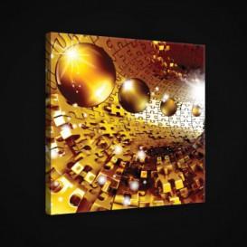 Obraz na plátne štvorec - OB1890 - 3D gule