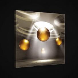 Obraz na plátne štvorec - OB1893 - 3D gule