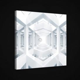 Obraz na plátne štvorec - OB1897 - 3D stĺpy