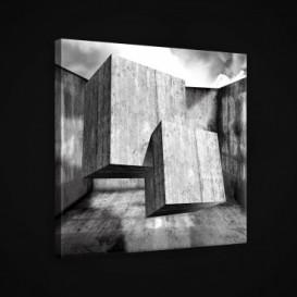 Obraz na plátne štvorec - OB1909 - 3D kocky