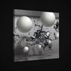 Obraz na plátne štvorec - OB1913 - 3D gule