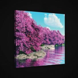 Obraz na plátne štvorec - OB1953 - Ružové stromy