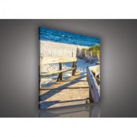 Obraz na plátne štvorec - OB2033 - Pláž