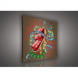 Obraz na plátne štvorec - OB2095 - Hráčske kocky