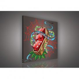 Obraz na plátne štvorec - OB2096 - Hráčske kocky