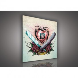 Obraz na plátne štvorec - OB2111 - Srdce