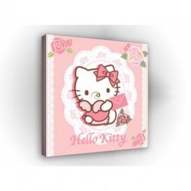 Obraz na plátne štvorec - OB2134 - Hello Kitty