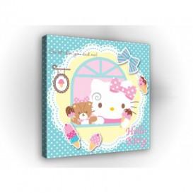 Obraz na plátne štvorec - OB2136 - Hello Kitty