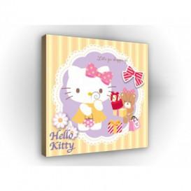 Obraz na plátne štvorec - OB2138 - Hello Kitty