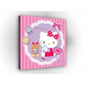 Obraz na plátne štvorec - OB2140 - Hello Kitty