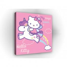 Obraz na plátne štvorec - OB2143 - Hello Kitty