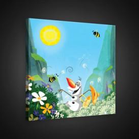 Obraz na plátne štvorec - OB2157 - Ľadové kráľovstvo - Olaf