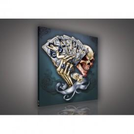 Obraz na plátne štvorec - OB2170 - Lebka
