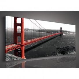Obraz na plátne panoráma - OB2175 - San Francisko most