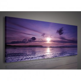 Obraz na plátne panoráma - OB2176 - Západ slnka