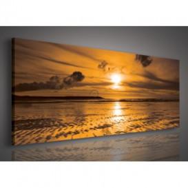 Obraz na plátne panoráma - OB2177 - Západ slnka