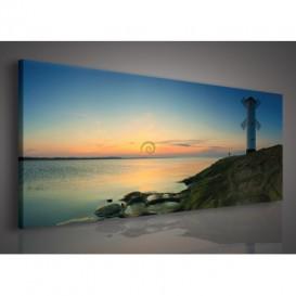 Obraz na plátne panoráma - OB2187 - Maják na pobreží