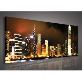 Obraz na plátne panoráma - OB2188 - Nočné mesto