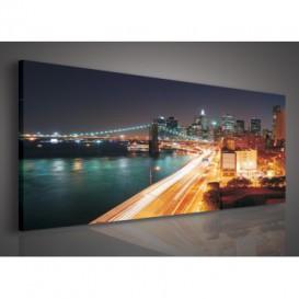 Obraz na plátne panoráma - OB2192 - Mesto zrýchlené