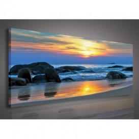 Obraz na plátne panoráma - OB2197 - Západ slnka
