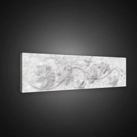 Obraz na plátne panoráma - OB2198 - Abstraktné biele kvety