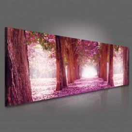 Obraz na plátne panoráma - OB2205 - Ružová alej