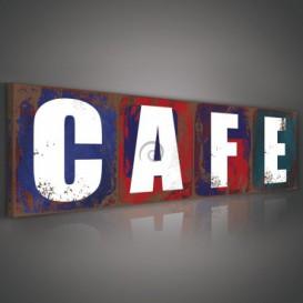 Obraz na plátne panoráma - OB2217 - Cafe