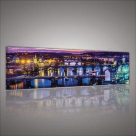 Obraz na plátne panoráma - OB2219 - Nočná Praha