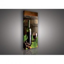 Obraz na plátne panoráma - OB2225 - Červené víno