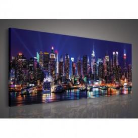 Obraz na plátne panoráma - OB2248 - Nočné mesto