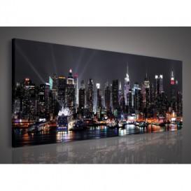 Obraz na plátne panoráma - OB2249 - Nočné mesto