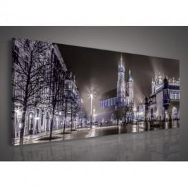 Obraz na plátne panoráma - OB2250 - Nočné mesto