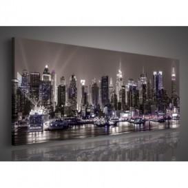 Obraz na plátne panoráma - OB2251 - Nočné mesto