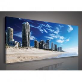 Obraz na plátne panoráma - OB2252 - Pláž