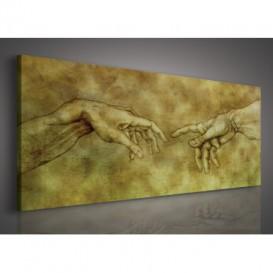 Obraz na plátne panoráma - OB2254 - Da Vinci ruky