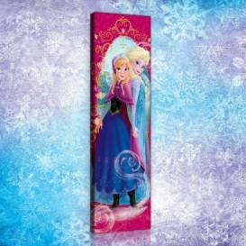 Obraz na plátne panoráma - OB2273 - Ľadové kráľovstvo Elsa a Anna