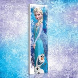 Obraz na plátne panoráma - OB2275 - Ľadové kráľovstvo Elsa a Olaf