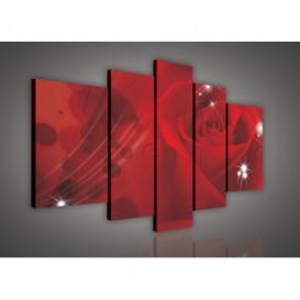 Obraz na plátne viacdielny - OB2331 - Červená ruža