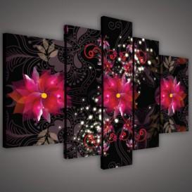 Obraz na plátne viacdielny - OB2368 - Ružové kvety