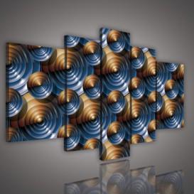 Obraz na plátne viacdielny - OB2388 - 3D kruhy