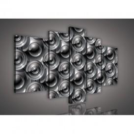 Obraz na plátne viacdielny - OB2389 - 3D kruhy