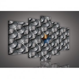Obraz na plátne viacdielny - OB2390 - 3D kruhy