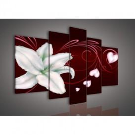 Obraz na plátne viacdielny - OB2393 - Biely kvet
