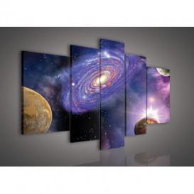 Obraz na plátne viacdielny - OB2396 - Galaxia