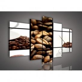 Obraz na plátne viacdielny - OB2403 - Mozaika káva